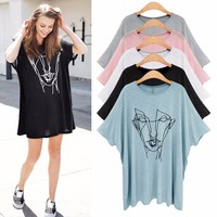 Bts Harajuku Summer Blouse Loose Large Size Women 200 Pounds Fat Mm Thin Section Print Short