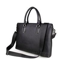 Laptop font b bag b font 15 6 inch brief fashion genuine leather laptop shoulder font