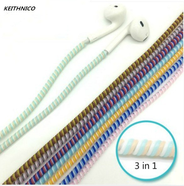 KEITHNICO 2Pcs 1.15M Earphone Line Cable Protector Case