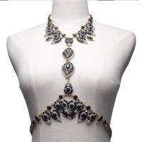Bikini Body Jewels Long Necklace Chain Waist Sexy Jewelry For Women 2016 New Fashion CZ Diamond