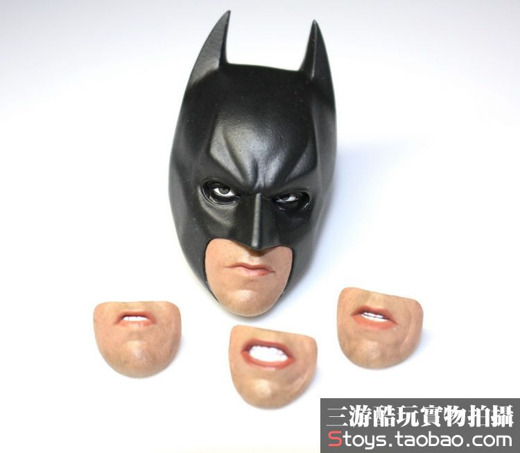 1:6 scale male Figure accessories Batman 4 mouths model Movable eyes head shape carved for 12 Action figure doll die shi spot burning the soul of a model burns 1 6 head carved figures are base contains mask