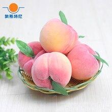 5 шт. 8 см размер искусственный фруктовый пластик искусственный фрукт искусственные персиковые фрукты и искусственный персик