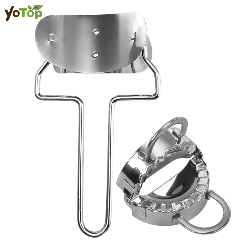 YOTOP 2Pcs/set 304SS Stainless Steel Dumpling Maker Mould Wraper Dough Presser Cutter Pie Ravioli Mould Kitchen Cooking Set Tool