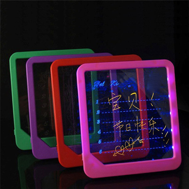 Acrylic LED Board Light Up Drawing Writing Special Puzzle Education Toy Gifts
