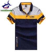 TACE & SHARK бренд 2018 Модные мужские Акула вышитая рубашка поло Homme Желтый Красный мужские рубашки поло с принтом флага одежда высокого качества