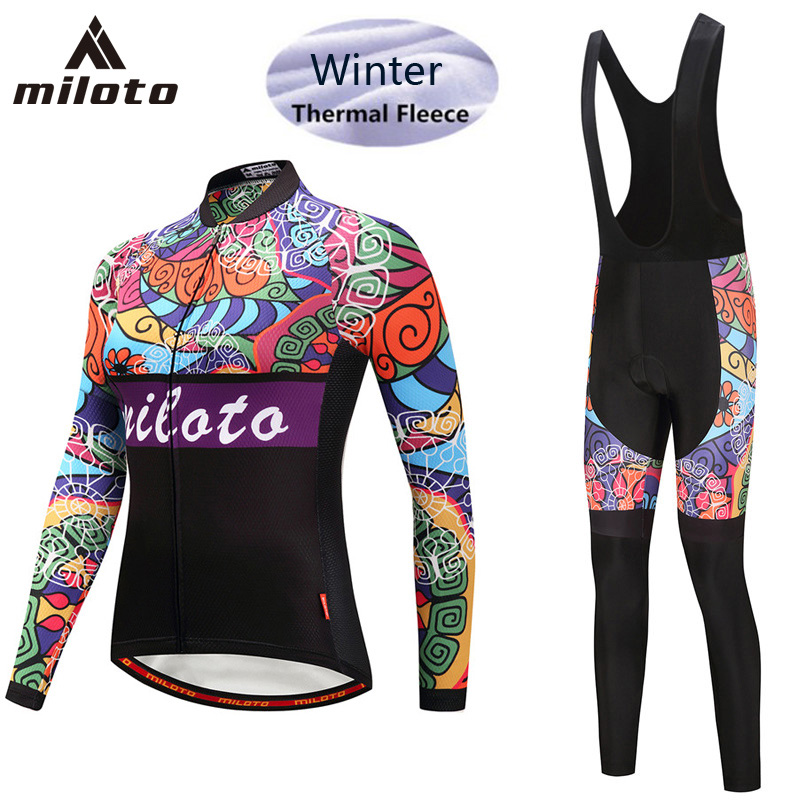 MILOTO Brand Winter Thermal Fleece Women Cycling Jersey Sets/Super Warm Mountain Bicycle Sports wear Bike Cycling Clothing Ropa triathlon fitness women sports wear shorts kit sets cycling jersey mountain bike clothing for spring jersey padded short page 9