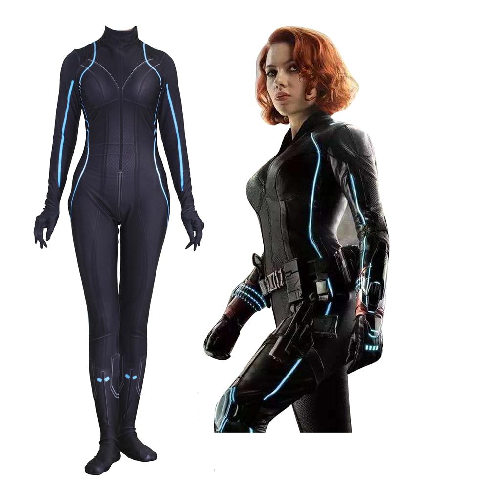 Women Kids Black Widow Natalia Alianovna Romanova Cosplay Costume Zentai Bodysuit Suit Jumpsuits