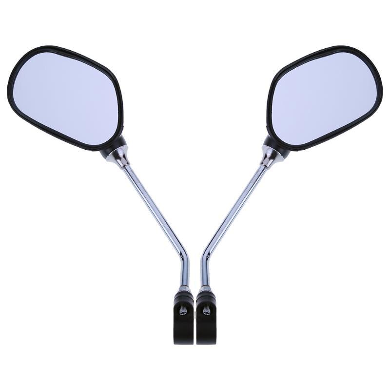 زوج مرآة الرؤية الخلفية للدراجات دراجة الزجاج اليسار/اليمين مرآة السلامة واسعة النطاق عودة البصر عاكس زاوية المرايا قابل للتعديل