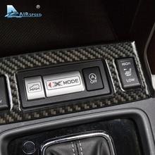 Airspeed 1 шт. сиденье из углеродного волокна Кнопка крышка Спортивная Кнопка Крышка для Subaru Forester 2013 2014 2015 2016 автомобиль-Стайлинг