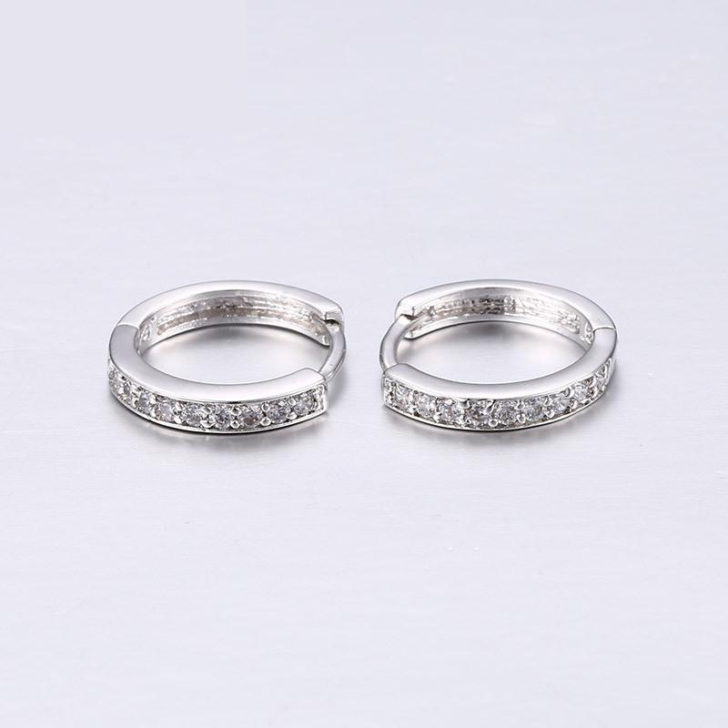 New arrive fashion Titanium steel Earring silver color for woman jewelry Wedding ring gift CP2 цена 2017