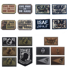 2019 Variety Multi-color DIY  Patch for Clothing 100% Embroidered POW MIA Armbands Badges ISAF Hook&loop Double Layer