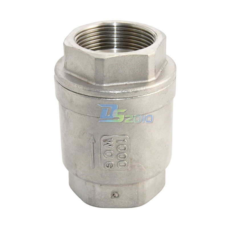 MEGAIRON BSPT 1-1/2 DN40 Stainless Steel SS316 Check Valve 1000 WOG Thread In-Line Spring Vertical Control Tool 3 4 female bspp 304 stainless steel check valve wog 1000 spring loaded in line sus ss304