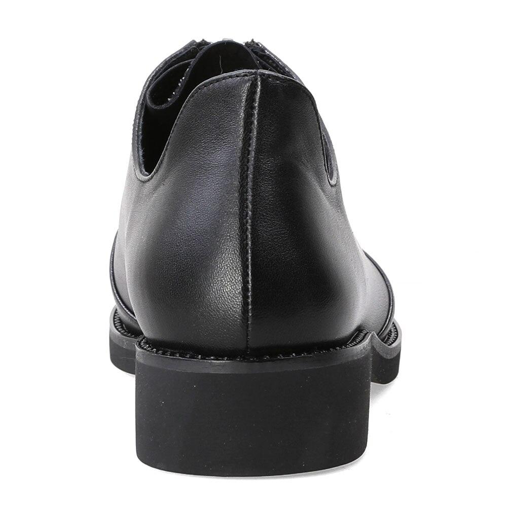 Mujer Para Marca Casual De Auténtico Las Mebi Zapatos Cuero Moda Negro Mujeres Flats Deslizamiento Rhinestone En xUv5w5A