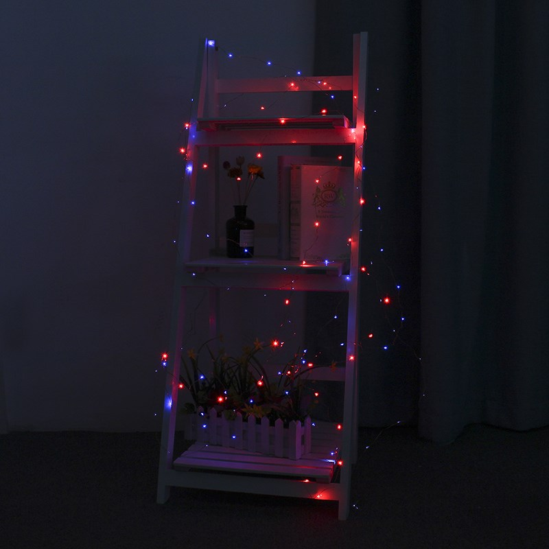 Versprechende Silber gewinde 12 Mt 120 LED String Licht Batteriebetriebene Weihnachts LED Fairy Light Hochzeit Party Decor Außenbeleuchtung