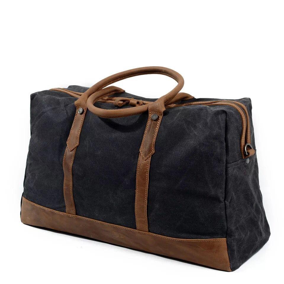 MESOUL Big Travel Duffle Väskor Mäns Stor Kapacitet Läder - Väskor för bagage och resor - Foto 4