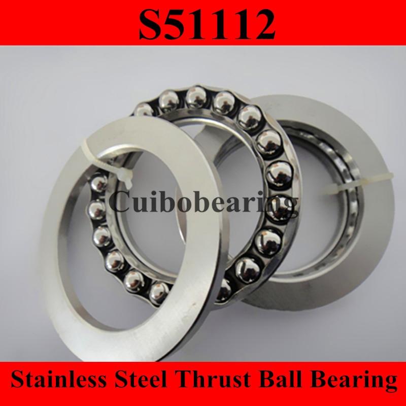 ФОТО stainless steel thrust ball bearing  S51112 60x85x17mm