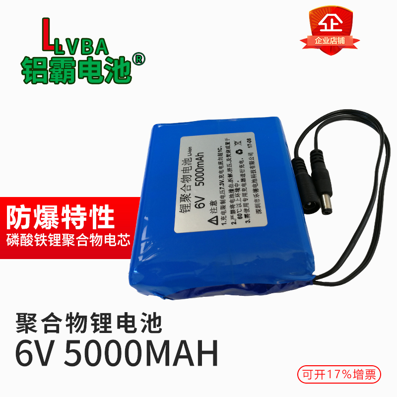 6V 6.4V polymer battery 5000MAH 2 series lithium iron phosphate rechargeable electronic scale instead of 6V battery 15000mah external rechargeable lithium polymer battery dc 12 6v