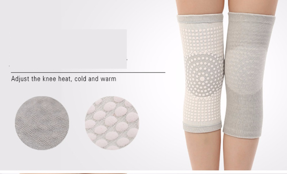 1 para 2 stücke hohe elastische breathable bambuskohle knie unterstützung turmalin magnetische knieorthese pad patella