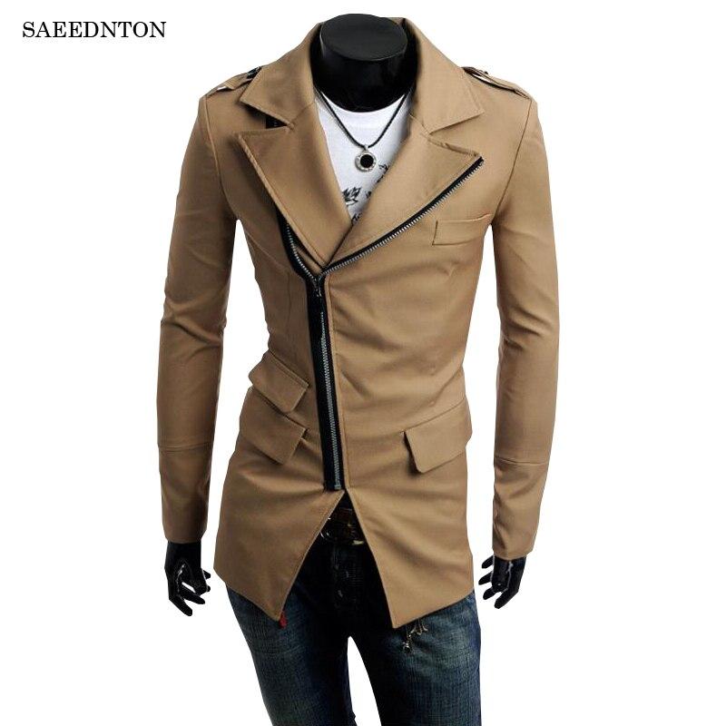 2018 Brand Men Autumn Jackets And Coats Jaqueta Masculina Male Causal Fashion Slim Fitted Diagonal Zipper Zipper Jackets Hombre