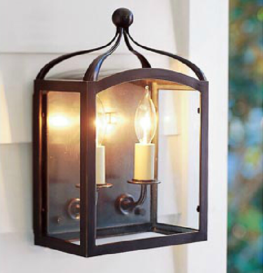 vintage loft iron glass wall lamp american countryhotel traditional