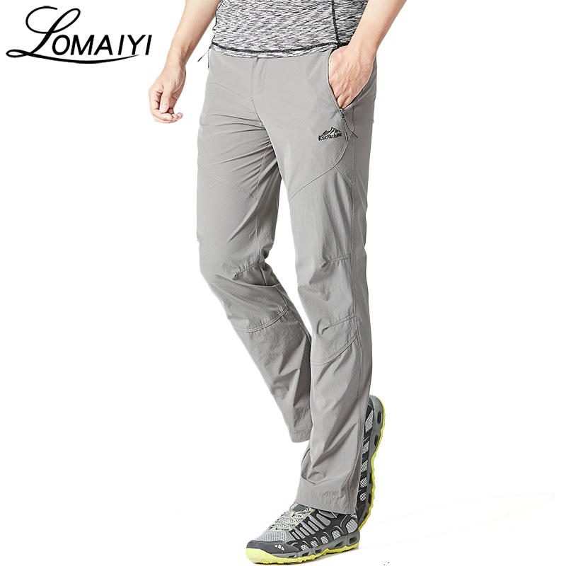 LOMAIYI Brand Stretch Men's Quick Dry Casual Pants Men Summer Breathable Trousers Thin Gray Sweatpants Fashion Male Pants AM228