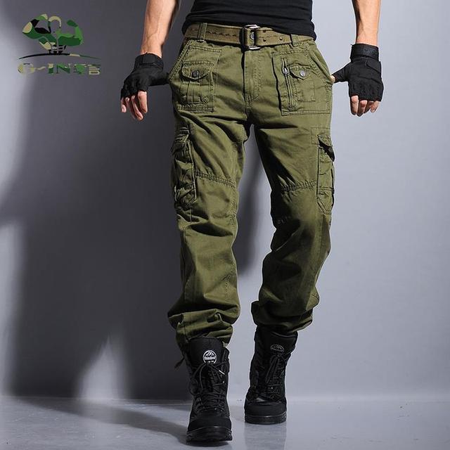 433f74c46 Envío Libre 29 38 de talla grande de Alta Calidad Pantalones Cargo de Los  Hombres Bragas Ocasionales Multi Bolsillo Militar para Los Hombres al aire  ...