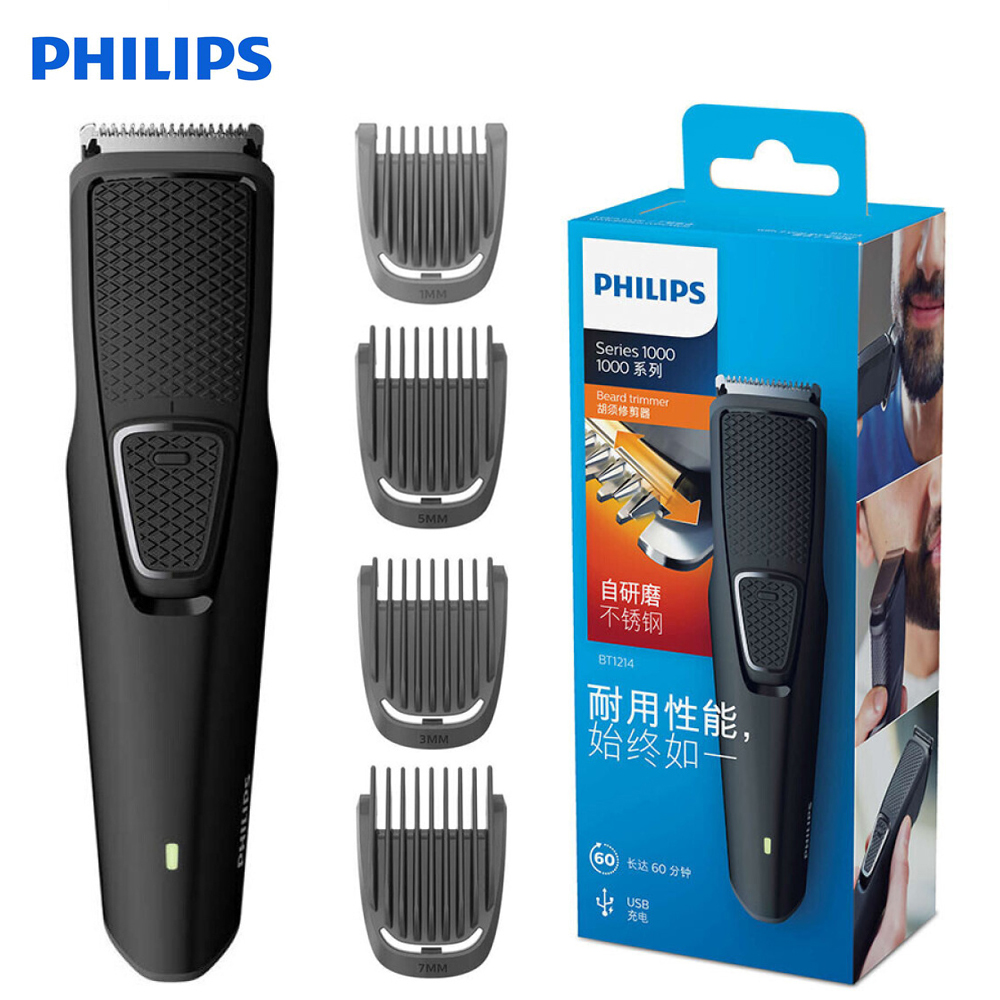 Philips BT1214 Electric Shaver with NiMH Battery Type Titanium Blade Rechargeable Philips Trimmer Machine for Men hair clipperPhilips BT1214 Electric Shaver with NiMH Battery Type Titanium Blade Rechargeable Philips Trimmer Machine for Men hair clipper