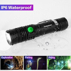 Image 5 - Ultra jasny super jasne led latarka usb linterna latarka led T6/L2/V6 Power porady Zoomable rowerów światła 18650 akumulator