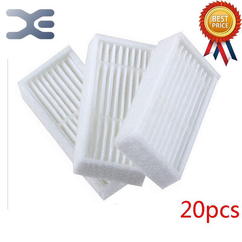 20 Pcs High Quality Vacuum Cleaner Parts Sweep Robot Accessories Ecovacs Dibea X600 / ZN605 Hepa Filter