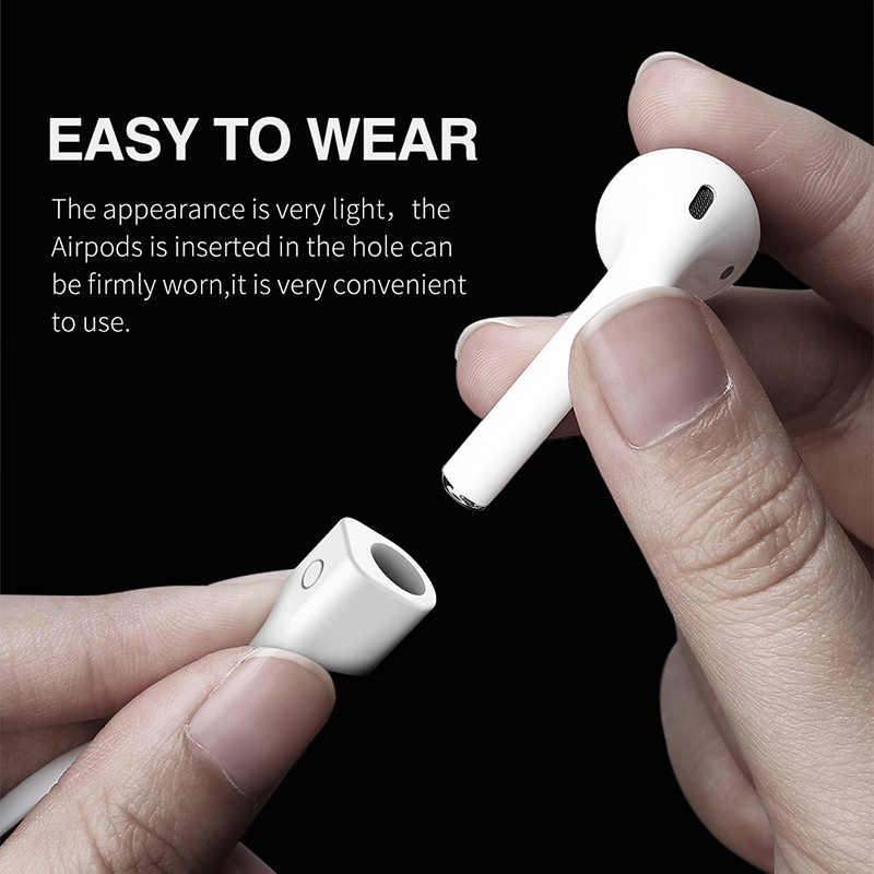 Baseus słuchawki słuchawki pasek dla Apple Airpods bezprzewodowy zestaw słuchawkowy BT pętli ciąg liny Anti-Lost kabel silikonowy dla AirPods