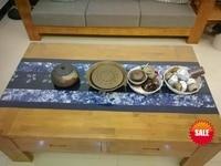 Japanese Shibori Tie dye Gorgeous Hand Painting / Handmade Kanoko Table Cloth Runner Wall artwork home decor many uses