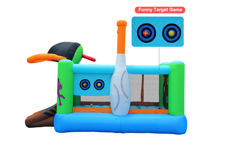 HTB1Ozh5SXXXXXXcXpXXq6xXFXXXR - Mr. Fun Kids Inflatable Sports Bounce House Trampoline with Blower