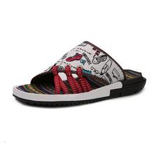 Summer Slippers Men's Slippers Toe Flip Flops Camouflage Folklore National Wind Tide Cheap Male Sandals