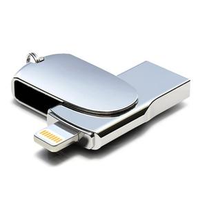 Image 1 - Novel Lightning USB Flash Drive 256 GB 128 GB Pendrive Memory Stick Voor iPhone USB Flash Pen Drives U Stok voor iPad iPod