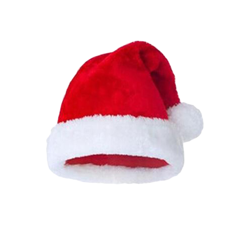 Christmas Hats Ornaments Decoration Red Beautiful Women Men Boys Girls Plush Hats Holiday Cap For Christmas Party Festival Gifts Aesthetic Appearance Christmas Hats Home & Garden