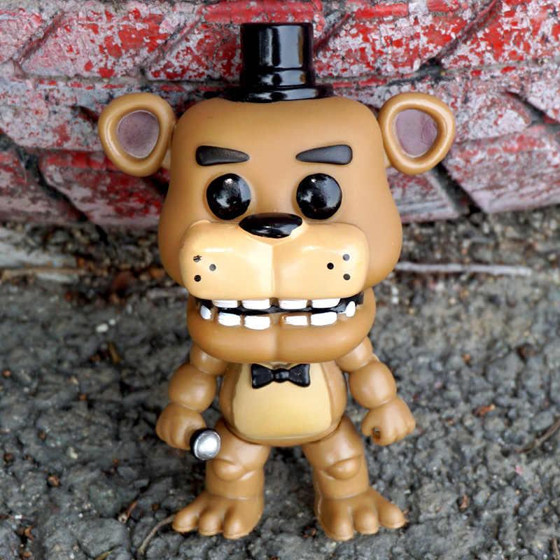 5 ピース/セット 5 夜でフレディの FNAF おもちゃ PVC アクションフィギュア 5 Fazbear モデル人形悪夢 Funtime フォクシーボニーフレディチカ