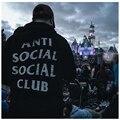 Antisocial Club Social Con Capucha Los Hombres de Hip Hop Sudadera de Algodón De Moda Abrigo de Lana Para Hombres Mujeres Boy Negro/Blanco/gris/Azul