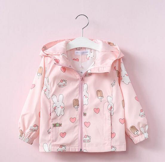 2019 New Spring Autumn Fashion Girls Casual Hooded Windbreaker Children Outerwear Coat Kids Jacket Children Clothing