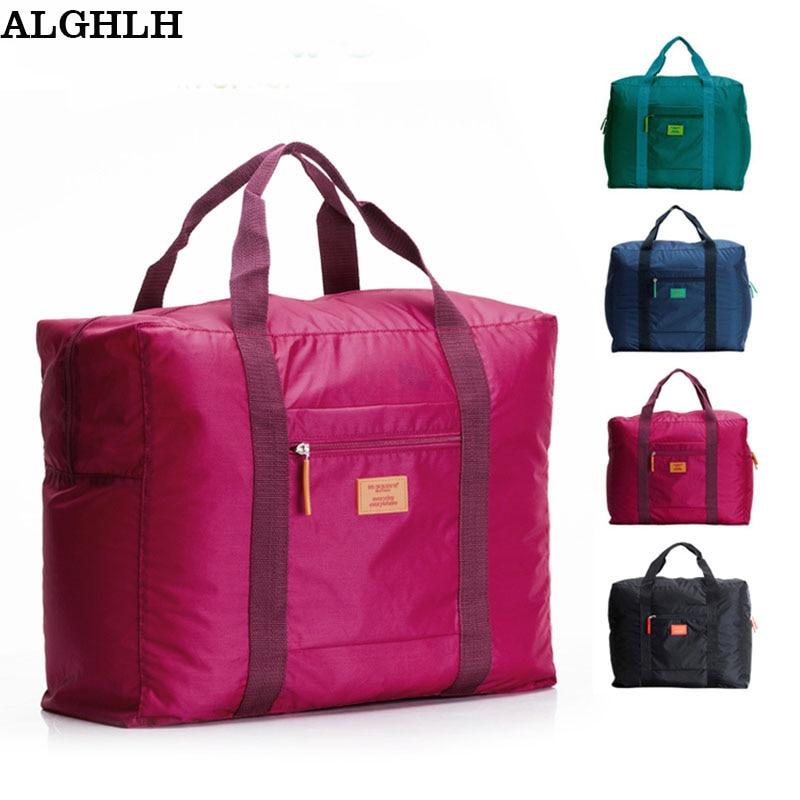 Гарячі Продаж Складний бренд дизайнер багаж подорожі мішки організатор водонепроникний жінок і чоловіків duffle носити багаж зберігання сумка  t