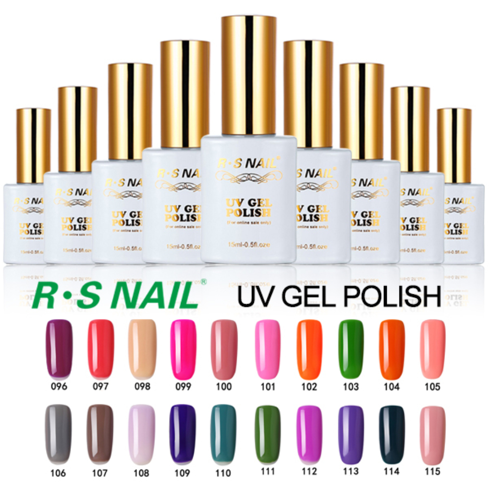 R.S 15ml soak off long lasting 3 step uv gel nail polishs gel lucky set of nail gel varnish lacquers esmaltes permanentes de uv
