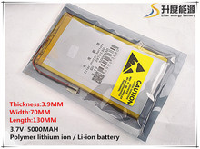 Free shipping 3970130 3 7V 5000mAh lithium polymer battery Tablet PC V811 812 Battery