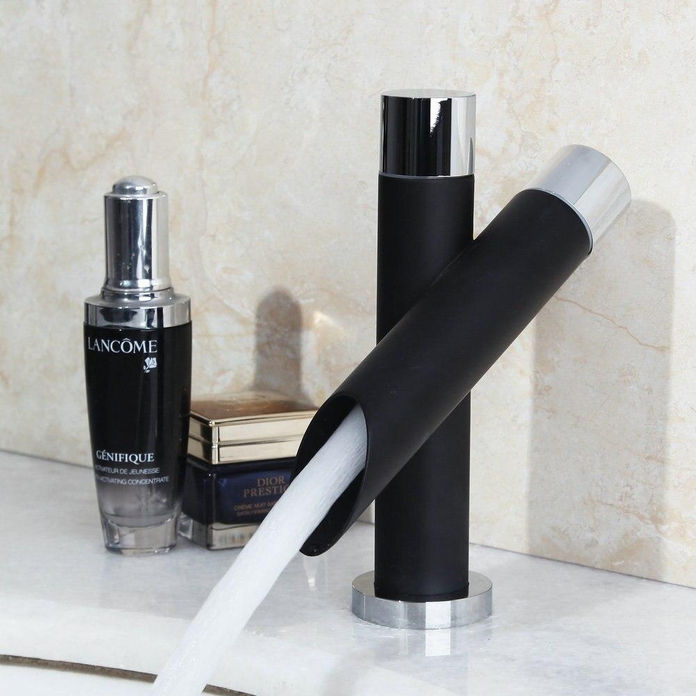 € 23.61 33% de réduction|Monite peinture bassin robinet salle de bain noir  robinet peinture finition bassin évier robinet mélangeur eau chaude et ...