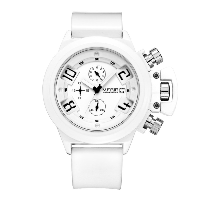 Topdudes.com - MEGIR Original Sports Fashion Quartz Chronograph Wrist Watch