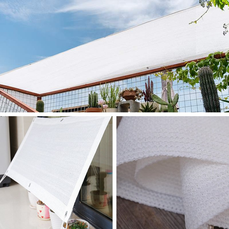 White Sun Shelter Canopy Sun Shade Sail Home Garden Awnings Outdoor Protection Covers  Square Patio Glass House Customized Size