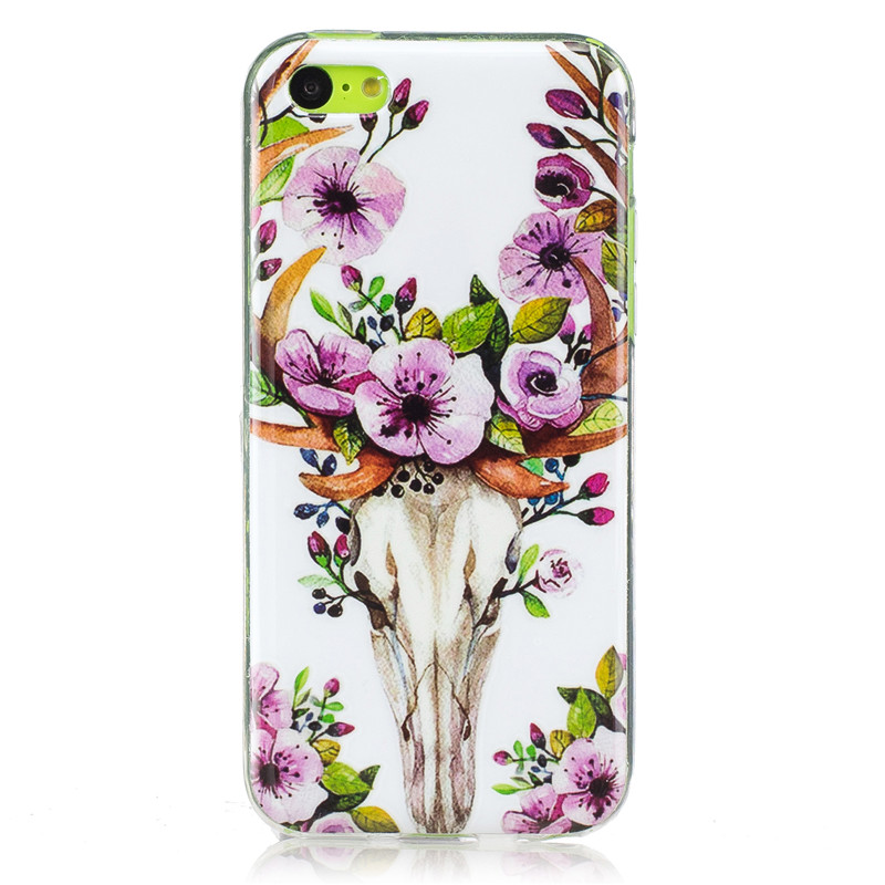 Lemonlan Luminous Phone Case for Apple iPhone 5S 5C 6S 7 Plus Soft Silicon TPU Back Cover for 5 SE 5C 6S/6 P Fashion Pattern