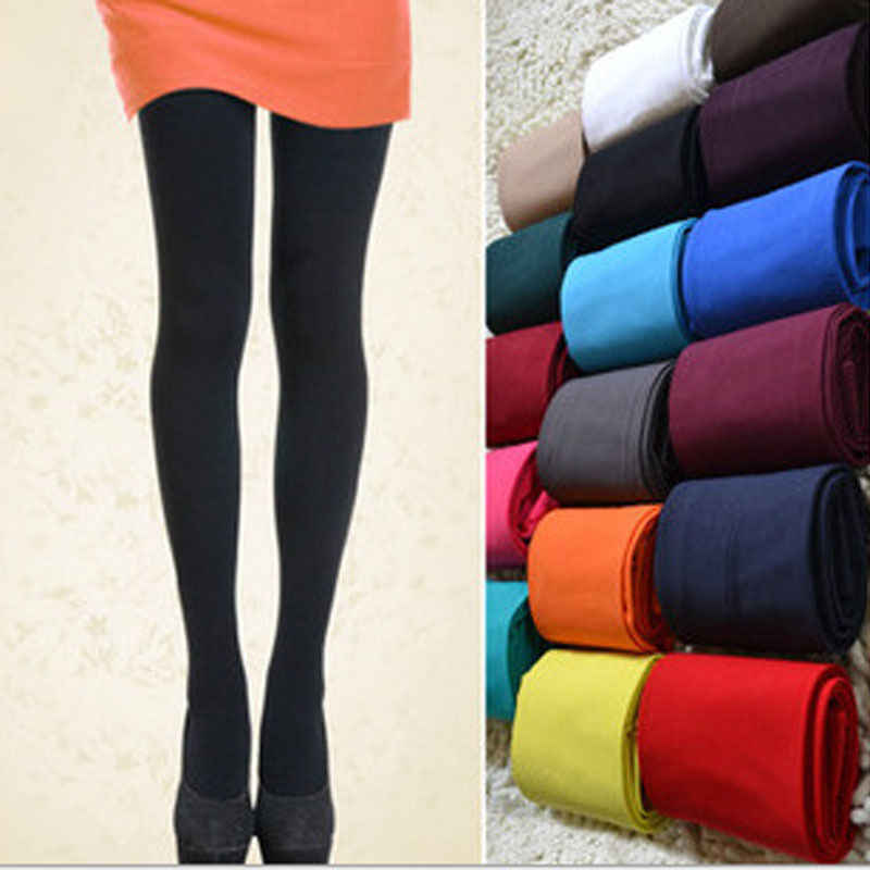 Sexy Winter Classic 120D Leggings Women Opaque Footed Tights Pantyhose Seamless Thick Tights Stockings Fashion Tights Plus Size