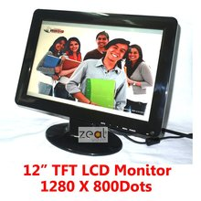 "12"" TFT LCD Monitor 1280 x 800 Pixels 16:10 + VGA Cable + Power Adapter"