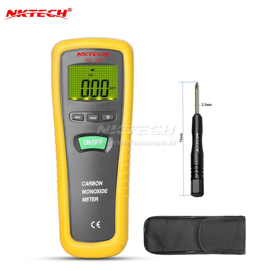 NKTECH NK338 CO Detector Carbon Monoxide Gas Leak Monitor Meter 3-IN-1 Handheld Tester Digital Professional Analyzer Auto Zero professional 2 in 1 soil moisture meter and ph level tester agriculture hydroponics farming analyzer for plants