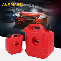 AUXMART 3L 5L Fuel Tanks Plastic Petrol Cans Mount Motorcycle Jerrycan Gas Can Gasoline Oil Container fuel Canister Petrol Tanks