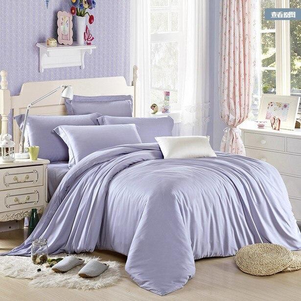 luxury light blue bedding set queen king size tencel duvet cover double bed in a bag sheet linen. Black Bedroom Furniture Sets. Home Design Ideas